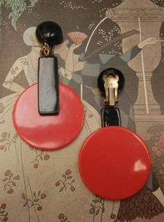 L'oiseau Acessórios Vintage: Maxi Brincos Geométricos Vintage Anos 60
