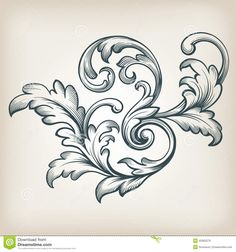 floral and acanthus leaf drawings - Google Search
