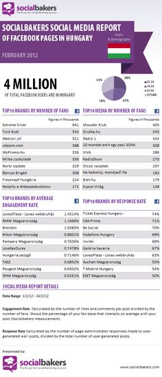 Facebook pages in Hungary (Socialbakers)