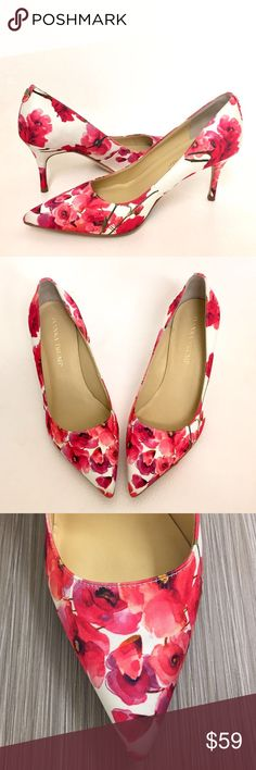 "Ivanka Trump Floral Pumps New without tags. Brighten up your wardrobe with these blooming floral print pumps by Ivanka Trump. So stylish!! Fabric upper, Manmade lining, leather sole. Pointed toe. Slip on design. 3"" heel. New without tags or box. Size: 6.5 Wide (6.5W). Come from a smoke free home. Reasonable offers will be accepted. Ivanka Trump Shoes Heels"