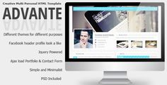 Advante - Creative Multi Personal HTML Template - ThemeForest Item for Sale