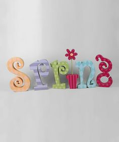 Take a look at this Pastel 'Spring' Letter Block Set by Adams & Co. on #zulily today!
