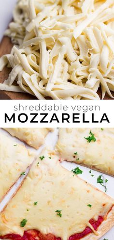 Vegan Mozzarella that can be shredded or sliced! It melts and stretches beautifu… Vegan Mozzarella that can be shredded or sliced! It melts and stretches beautifully just like the real thing and only takes minutes to make! Whole Foods, Whole Food Recipes, Diet Recipes, Healthy Recipes, Bacon Recipes, Copycat Recipes, Pizza Recipes, Vegan Vegetarian, Vegetarian Recipes