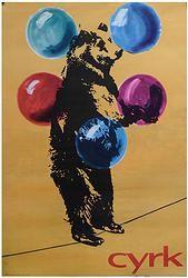 0666 - Circus Bear on Tightrope
