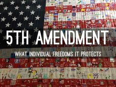 5th amendment jurisprudence