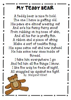 005 Teddy Bear ABC Chant for preschool and kindergarten