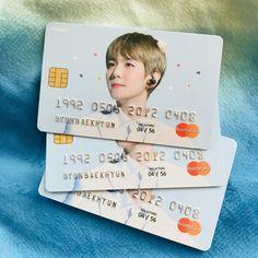 Where do I get a Baekhyun bank card? Korean Aesthetic, Aesthetic Themes, Baekhyun, Exo Smtown, K Pop, Print Handwriting, Exo Merch, Kpop Diy, Exo Korean