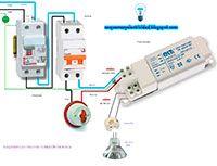 Esquemas eléctricos: Esquema eléctrico de conexión dicroica