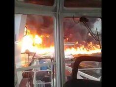 """Explosión e incendio en Buque Tanque """"Burgos"""""""
