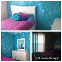"""Frozen"" theme bedroom"