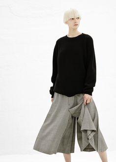 Comme des Garcons COMME Houndstooth Skirt (Black/ Natural)