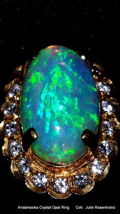 Andamooka Crystal Opal Ring                                                                                                                                                         Coll.  Julie Rosenkranz