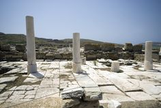 Another set of ruins in Delos, a reminder of the Greek's ancient past Classical Greece, Cruise Offers, Greek Tragedy, Yacht Cruises, Sailing Holidays, Seafarer, Top Destinations, Greek Islands, Dream Vacations