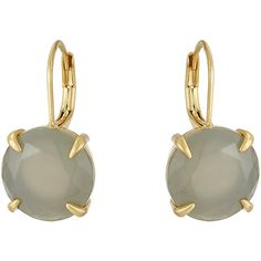 Vince Camuto Round Leverback Earrings (Worn Gold/Milky Grey) Earring ($35) ❤ liked on Polyvore featuring jewelry, earrings, round gold earrings, gold earrings jewelry, vince camuto jewelry, gray earrings and grey jewelry