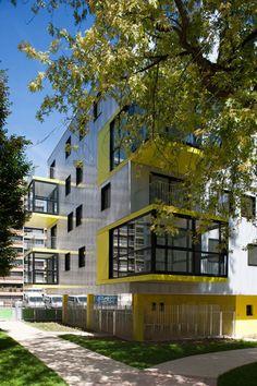 OP13 60 social colective housing and library of disctrict, Paris 13ème, PHILIPPE DUBUS ARCHITECTES