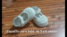 Zapatito de 10 cm para bebe de 3 a 6 meses - YouTube Baby Shoes Pattern, Shoe Pattern, Baby Patterns, Crochet Baby Shoes, Crochet Baby Clothes, Booties Crochet, Filet Crochet, Baby Booties, Baby Sandals