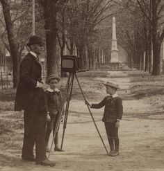 Detail of Photographer with View Camera in the Median of Green Street in Augusta, Georgia* by Photo_History, via Flickr
