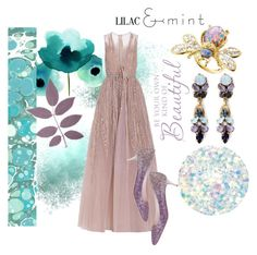"""""""Lilac and mint. Be beautiful"""" by elena-viola-1 ❤ liked on Polyvore featuring Elie Saab, Kenneth Jay Lane, Jimmy Choo, Erickson Beamon and Deborah Lippmann"""