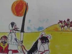 Gigantes con aspas (fragmento de El Quijote para niños) - YouTube