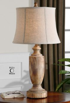 "Uttermost Calvino 27687 Solid Wood Table Lamp 16"" diameter X 32"" high."