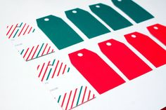 Candy Cane Gift Tags by ShohinBoutik on Etsy, $5.17
