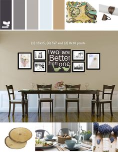 Dining Room Mood Board for the new apartment (my favorite details is the photos I inserted above the table) ;)