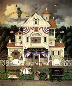 Charles Wysocki Lady Liberty limited edition print