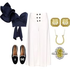 Engagement Party by engleann on Polyvore featuring Johanna Ortiz, Proenza Schouler, J.Crew and Allurez