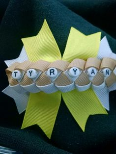 Personalized hair bow.