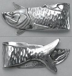 Silver Tarpon Fish Money Clip Hand Made Mens by JewelryArtStudio