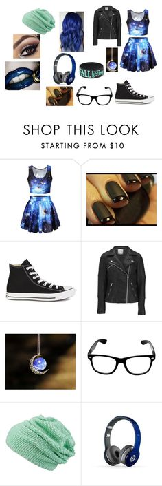 """""""Party Outfit (Casual)"""" by slightly-insane-trash ❤ liked on Polyvore featuring Converse, ONLY, maurices and Beats by Dr. Dre"""