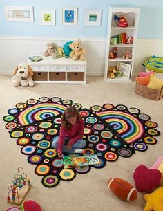 Heart motif rug
