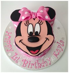minnie mouse birthday cakes | Minnie Mouse face - by Cakesncrafts @ CakesDecor.com - cake decorating ...
