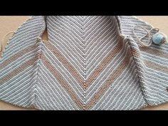 İKİ RENKLİ VEREV YELEK // İLK DEFA BU KANALDA !! #verev #yelek #haroşa - YouTube Sweater Knitting Patterns, Knitting Stitches, Hand Knitting, Crochet Patterns, Crochet Baby, Free Crochet, Knit Crochet, Cross Stitch Gallery, Knitting Videos