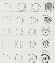 New Ideas Eye Tutorial Anime Drawing Reference Manga Tutorial, Eye Tutorial, Anatomy Tutorial, How To Draw Anime Eyes, Manga Eyes, Draw Eyes, Manga Mouth, Eye Sketch, Anime Sketch