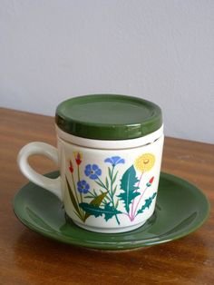 Tea Mug or Cup Waechtersbach retro vintage - West German pottery    On ETSY  http://etsy.me/Ywt2Gz