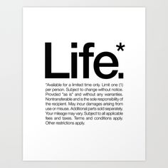 Life. by WORDS BRAND Inspiration Quote