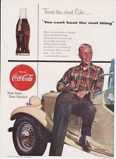 "Coca Cola 1954 7 1/2"" x 101/2"" ad Youngster with his Jalopy"" (Time Magazine)"