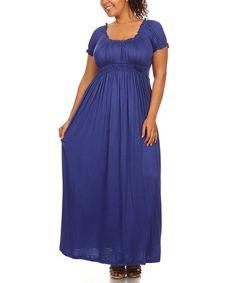 Look what I found on #zulily! Purple Empire-Waist Maxi Dress - Plus #zulilyfinds
