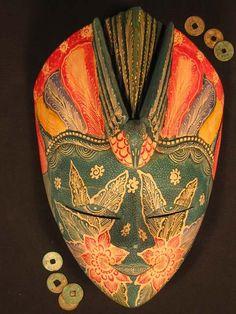 The Traditional Masks of Indonesia Art Alevel, Arts Integration, Batik Prints, 3d Artwork, Masks Art, Tribal Fusion, Dot Painting, Masquerade, Folk Art