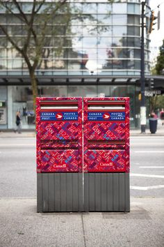 Canada Post post boxes in Vancouver.