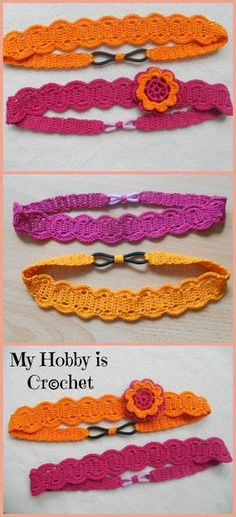 My Hobby Is Crochet: Thread headband- free pattern with tutorial