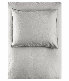 Product Detail | H&M GB Light Grey Linen Duvet Cover & Shams $35