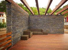 Vivienda de piedra y madera | Planos de Casas Gratis