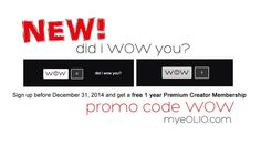 Sign up today, your personal brand will thank you. myeOLIO.com promo code WOW