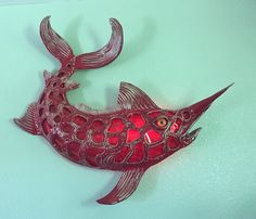 Mike Quinn Art - Glazed Marlin in Art, Direct from the Artist, Other Art from the Artist Faux Taxidermy, Fish Art, Glaze, Artist, Ebay, Attitude, Red, Enamel, Mindset
