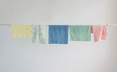 Small Linens - pair of napkins/placemats. Hand dyed / printed with plant extracts and sewn in my Peckham studio.