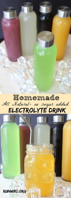 DIY Homemade All Natural Sugar Free Electrolyte Sports Drink Drink- Gatorade and other store bought drinks are full of sugar and artificial junk- not only is this recipe quick and easy to make you can make ahead and store in the frig for up to two weeks. Sugar Free Drinks, Sugar Free Gatorade, Sugar Free Juice, Keto Drink, Diet Drinks, Juice Drinks, Sports Drink, Sugar Detox, Natural Sugar