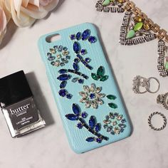 Classy Apple Iphone Cases&Covers With Genuine Leather Bling Bling Czech Crystal/Diamond Fantastic Sky Blue Color Gentle Charm Cases For Cell Phones Cell Phone Carrying Case From Yamazhouzhe, $30.37| Dhgate.Com