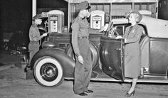 Actress Patricia Ellis and a Packard Promote Texaco Fire-Chief